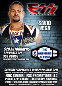 19-9-2020_savio_vega_the_wrestling_classic_booking_flier